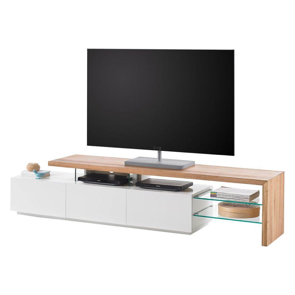 TV Lowboard Molios II   Eiche Teilmassiv   Weiß / Eiche, Roomscape Jetzt  Bestellen Unter: Https://moebel.ladendirekt.de/wohnzimmer/tv Hifi Moebel/tv   ...