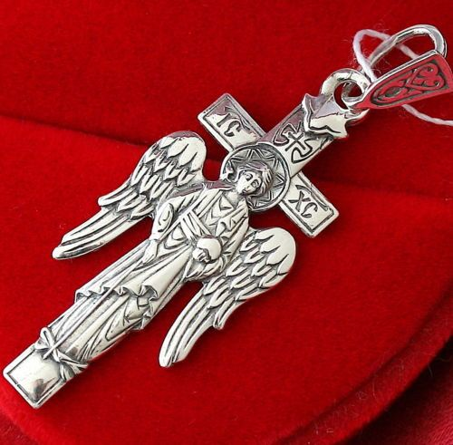 Details about Guardian Angel Protective Charm Silver 925 Russian