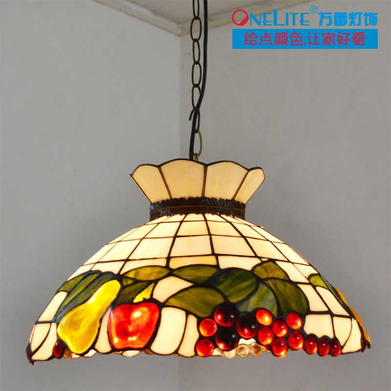 New Arrival Rustic Fruit Tiffany Lighting Restaurant Lamp Dining Room Pendant Light Free Shipping 390 44