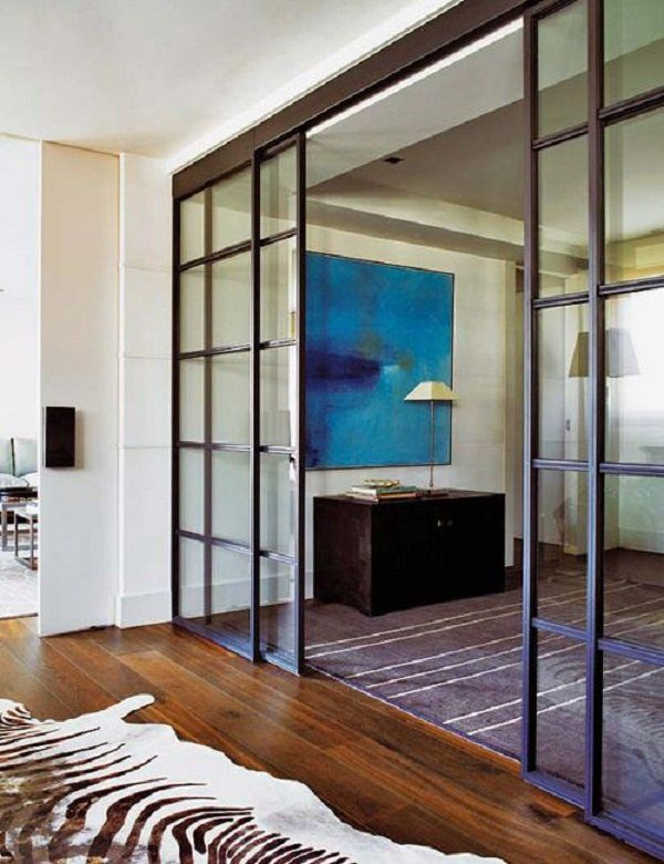 puerta deslizable en sala