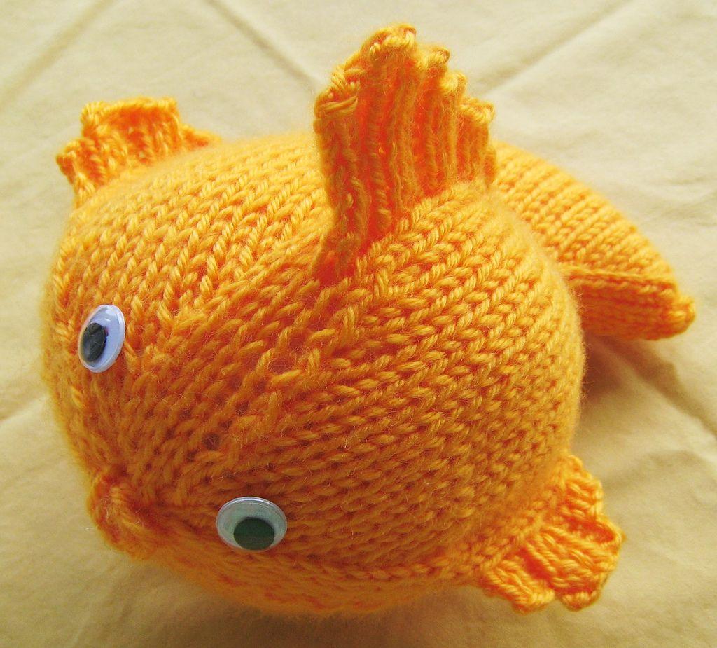 Вязаная золотая рыбка схема фото 142