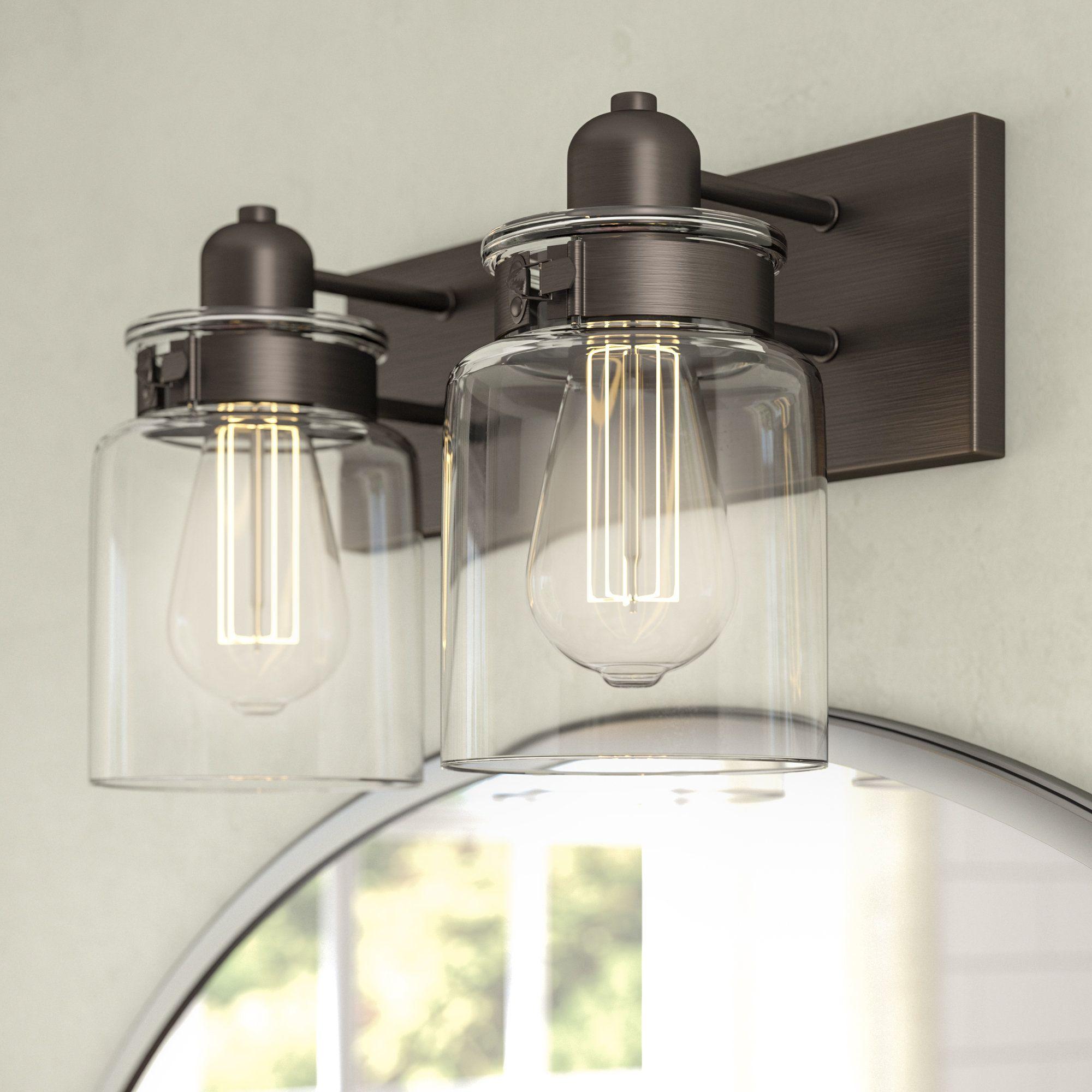 Vasilia 2 Light Vanity Light Farmhouse Bathroom Light Vanity Lighting Bathroom Light Fixtures