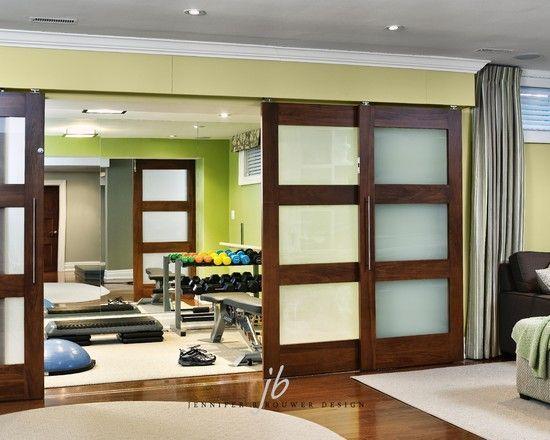 Partition Sliding Doors In Living Room Home Gym Design Home