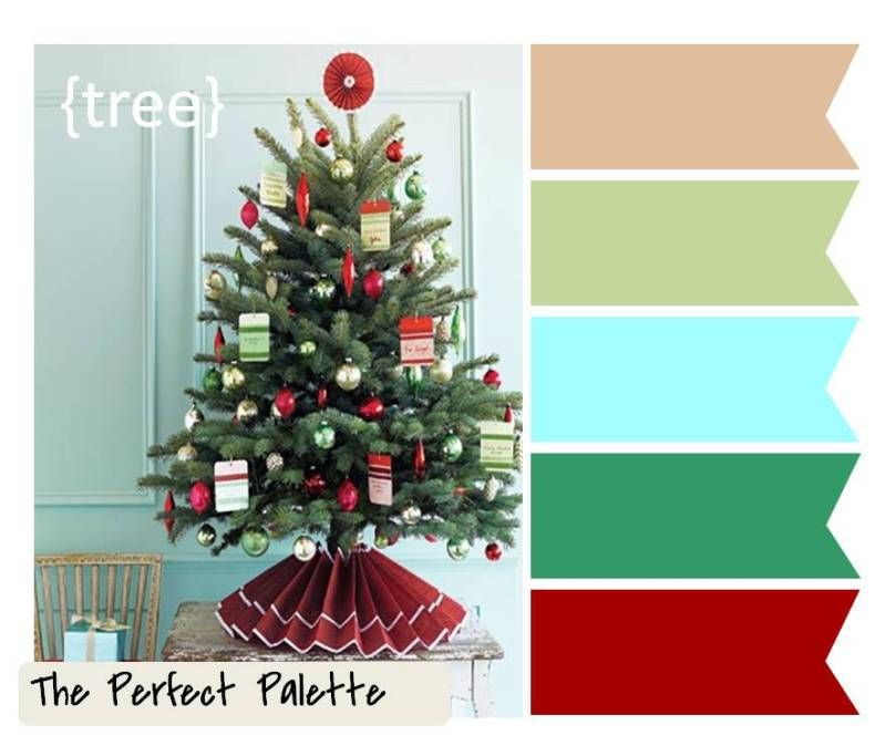 Christmas Tree Colour Schemes 2014: {Holiday Color Palettes}: What's Your Favorite?