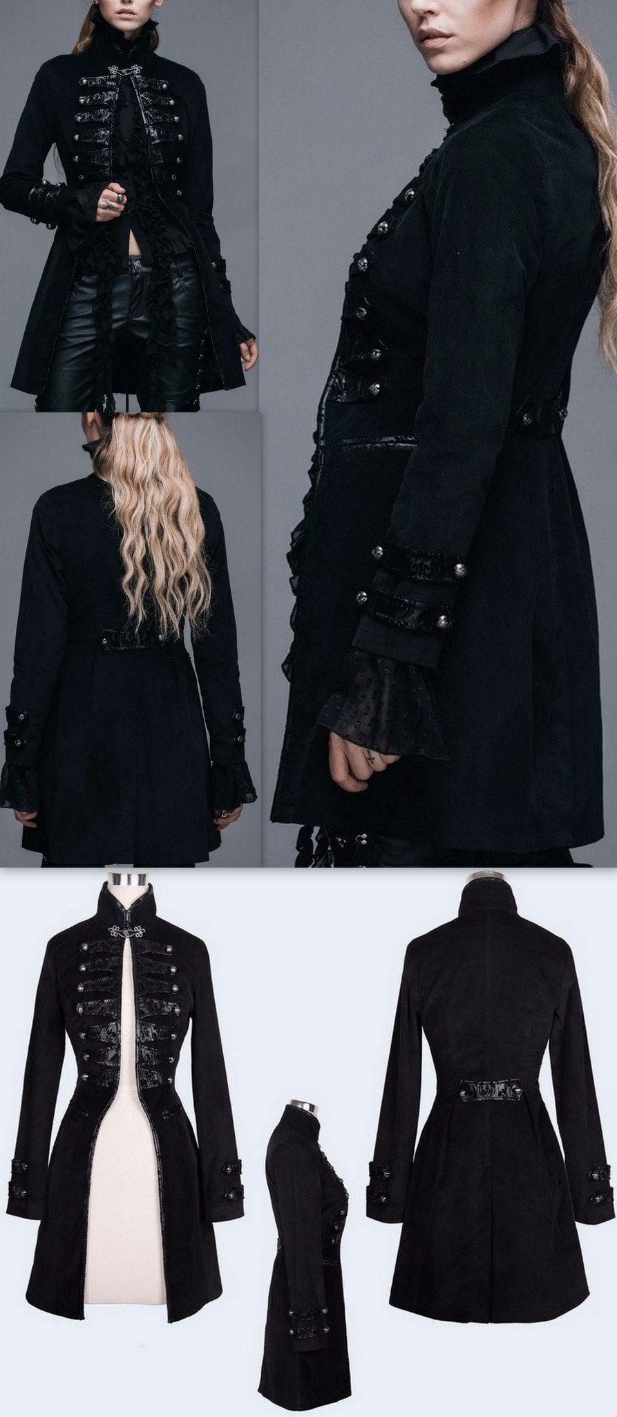 Black Victorian Military Coat