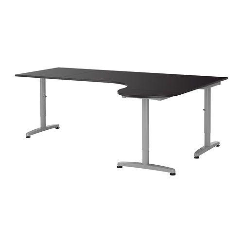 Galant Desk Combination Right Black Brown Ikea Brad