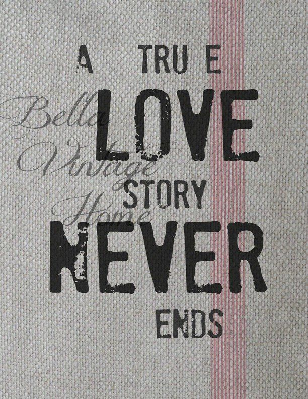 A True Love Story Print, Pillow, Note Cards, Tea Towel, Digital Download