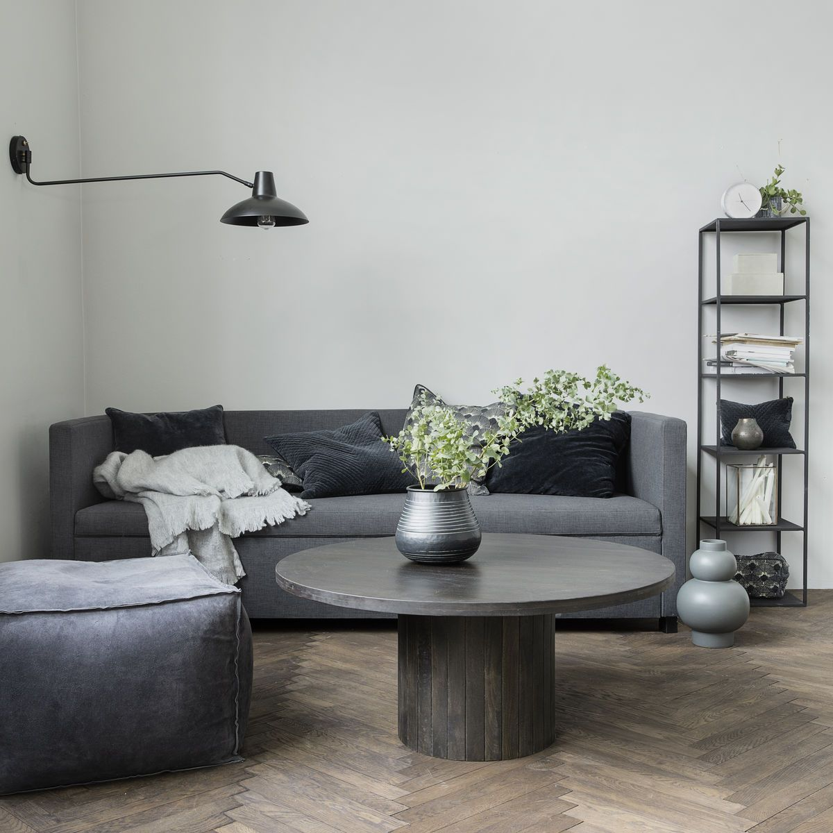 Pillar Black Wood Coffee Table House Doctor Woo Design Coffee Table Coffee Table Wood Furniture [ 1200 x 1200 Pixel ]