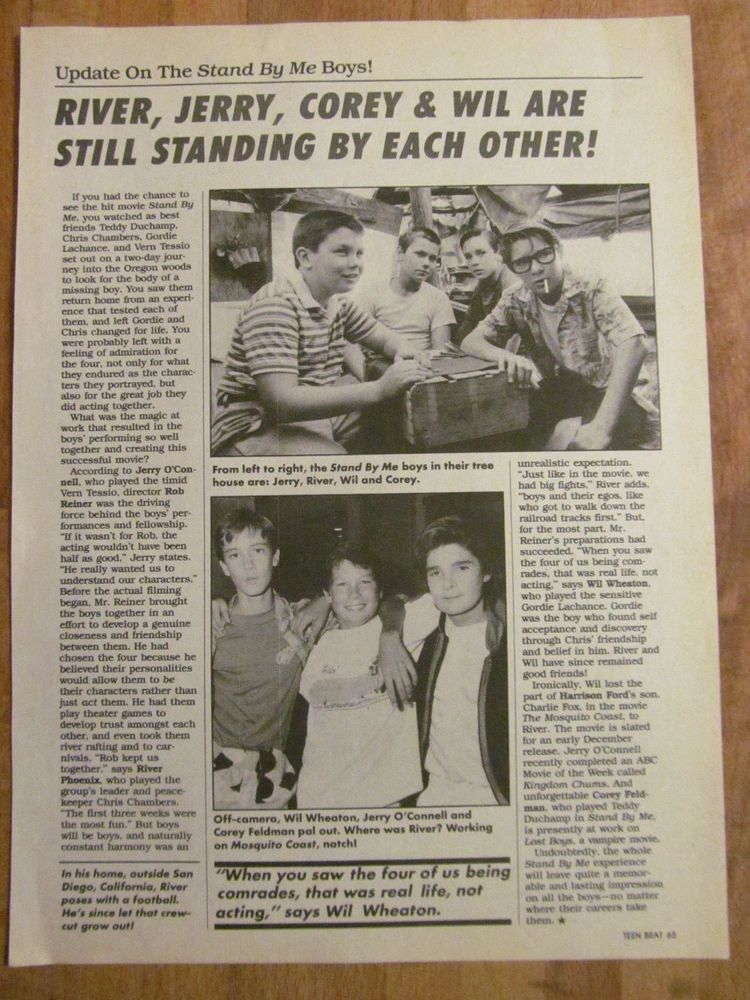 Stand By Me Movie News Print.