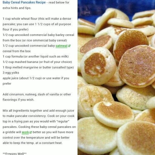 Baby oatmeal cereal pancakes rob muffins pancakes pinterest baby oatmeal cereal pancakes forumfinder Images