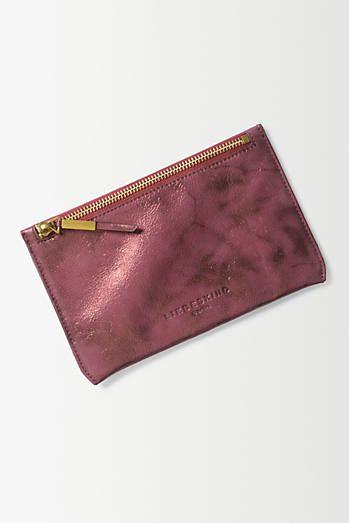 Metallic Leather Mini Pouch