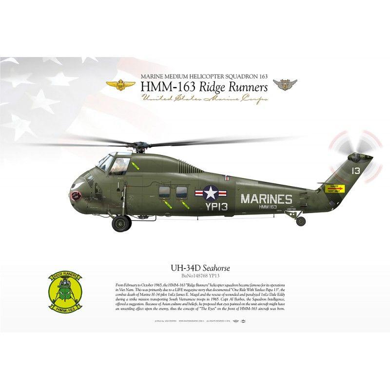 "UH-34D ""Seahorse"" YP13 HMM-163 JP-2199 - Aviationgraphic"
