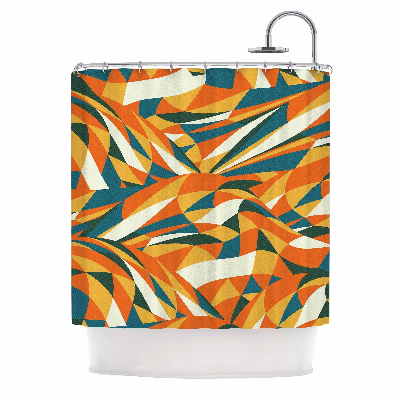 Kess InHouse Danny Ivan Convoke Multicolor Geometric Memory Foam Bath Mat 17 by 24