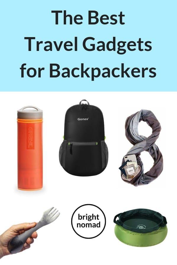 Travel gadgets for backpackers #traveltips #backpacking #safetravels #travelgadgets