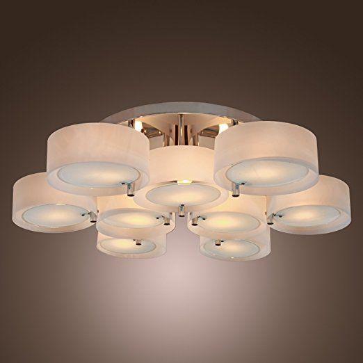 99 Lightinthebox Acrylic Chandelier With 9 Lights Flush Mount