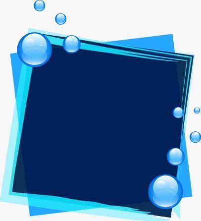 Blue Dream Bubble Border Doodle Frames Page Borders Design Simple Poster
