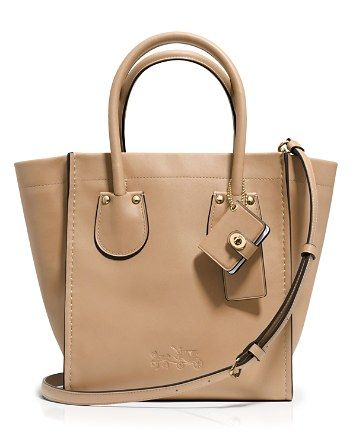 18bb74ac03600 COACH Cashin Carry 20 Tote in Glove Calf Leather | Bloomingdale's Tan  Handbags, Handbags On