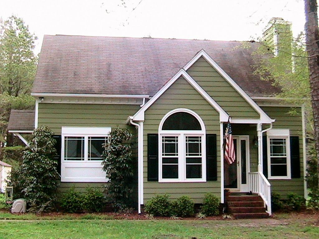 Green exterior white trim now for some of the changes we have made throughout the years home - Exterior white trim paint pict ...