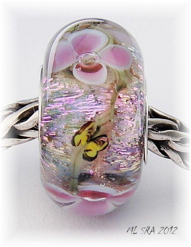 Floral Beads - Glasslight Studio - Handmade beads for Pandora, Trollbead, Chamilia and all other European Charm Bracelets