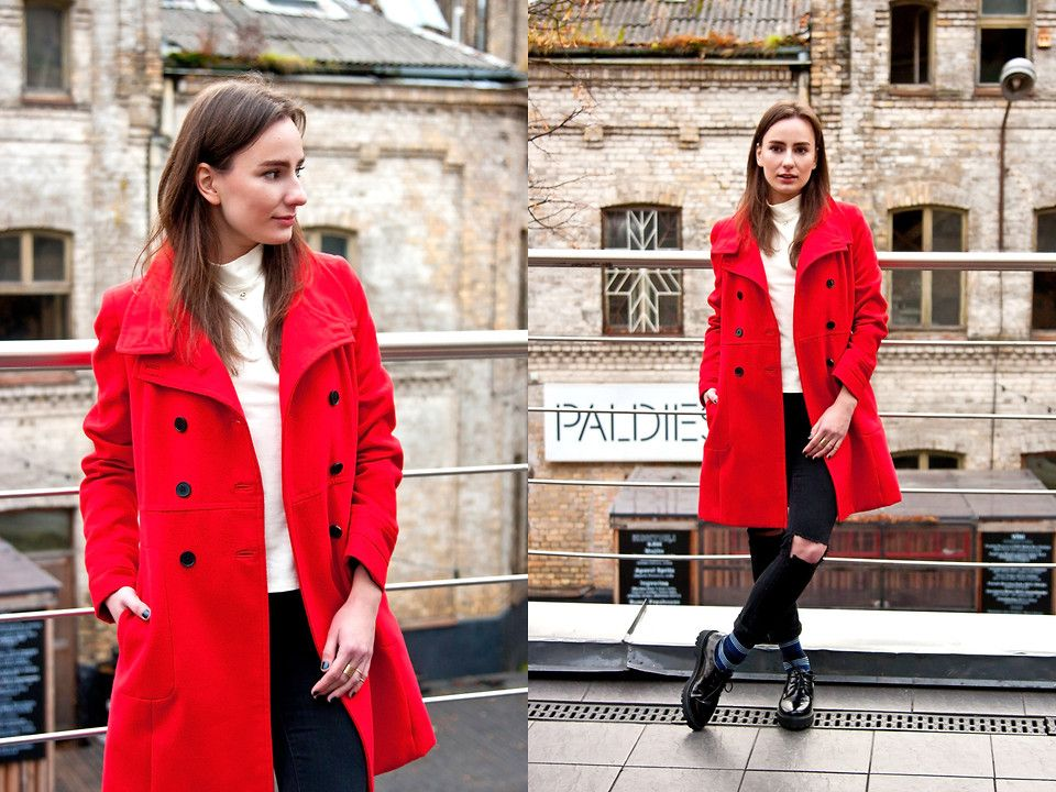 Anna Puzova - Zara Coat, Lindex Top, Mango Jeans, Have2have Shoes - P is for PIENS
