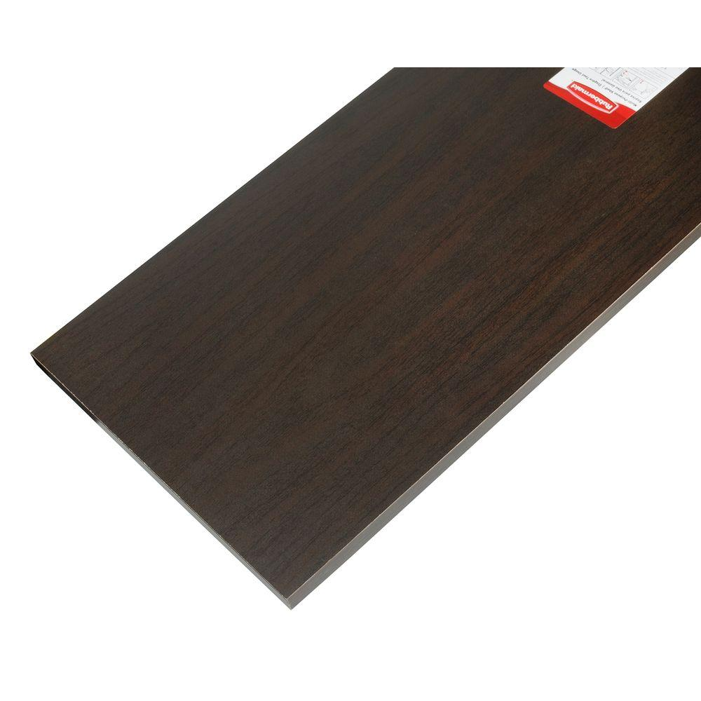 Rubbermaid Espresso Laminated Wood Shelf 8 In D X 36 In L 1801776 The Home Depot Wood Shelves Wood Laminate Laminate