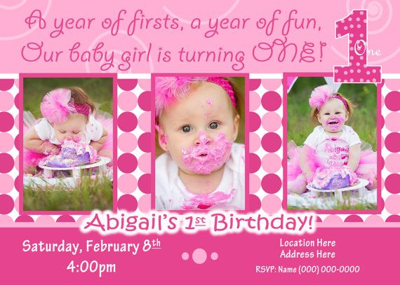 1st birthday girl invitation 1st birthday girl invite everything one 1st birthday girl invitation 1st birthday by jrcreativedesigns filmwisefo