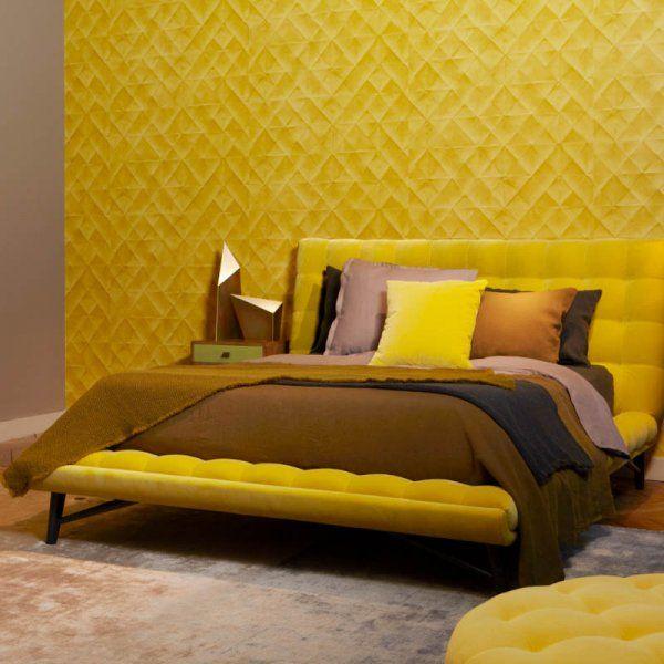 Le jaune moutarde, tonique et chaleureux , chambre, couleurs ...