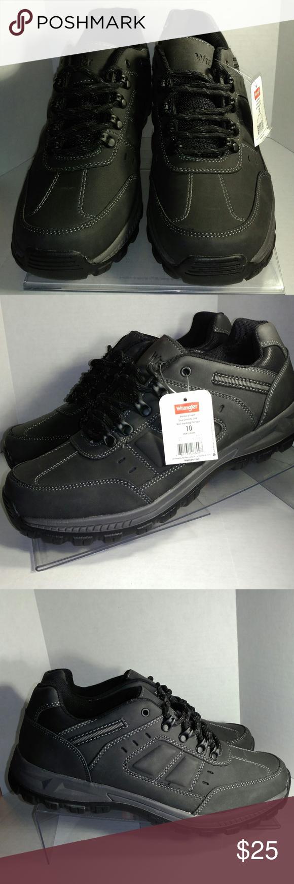 Wrangler Men s Rugged Oxford Black Shoe NWT Wrangler Men s Rugged Oxford  Shoes in Mulitiple Sizes Sizes 5c55cf27f13