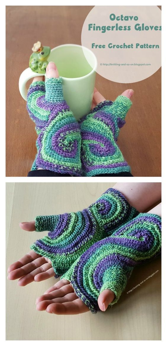 Yarn Hook Needles: Pieces of Eight Fingerless Gloves Free Crochet ...