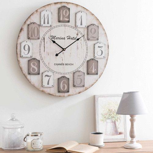 Décoration Maison Lumiere Hologrie Horloge Bois