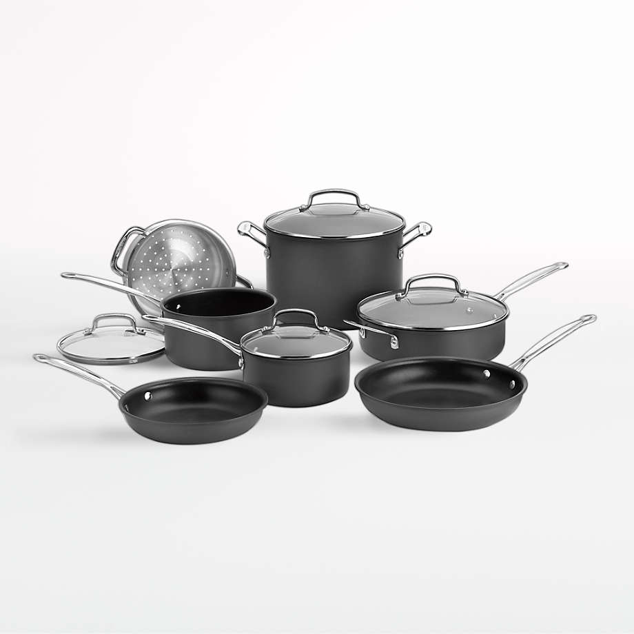 Cuisinart Chef S Classic Non Stick Hard Anodized 11 Piece Cookware Set Reviews Crate And Barrel Cookware Set Cookware Sets Crate And Barrel Cuisinart 11 piece cookware set