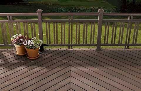 Abstract Design Metal Panel Handrail Deck railings, Deck