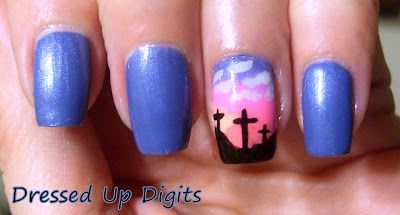 Easter Cross Nails
