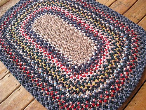 Handmade Custom Braided Wool Rug From Recycled Wools