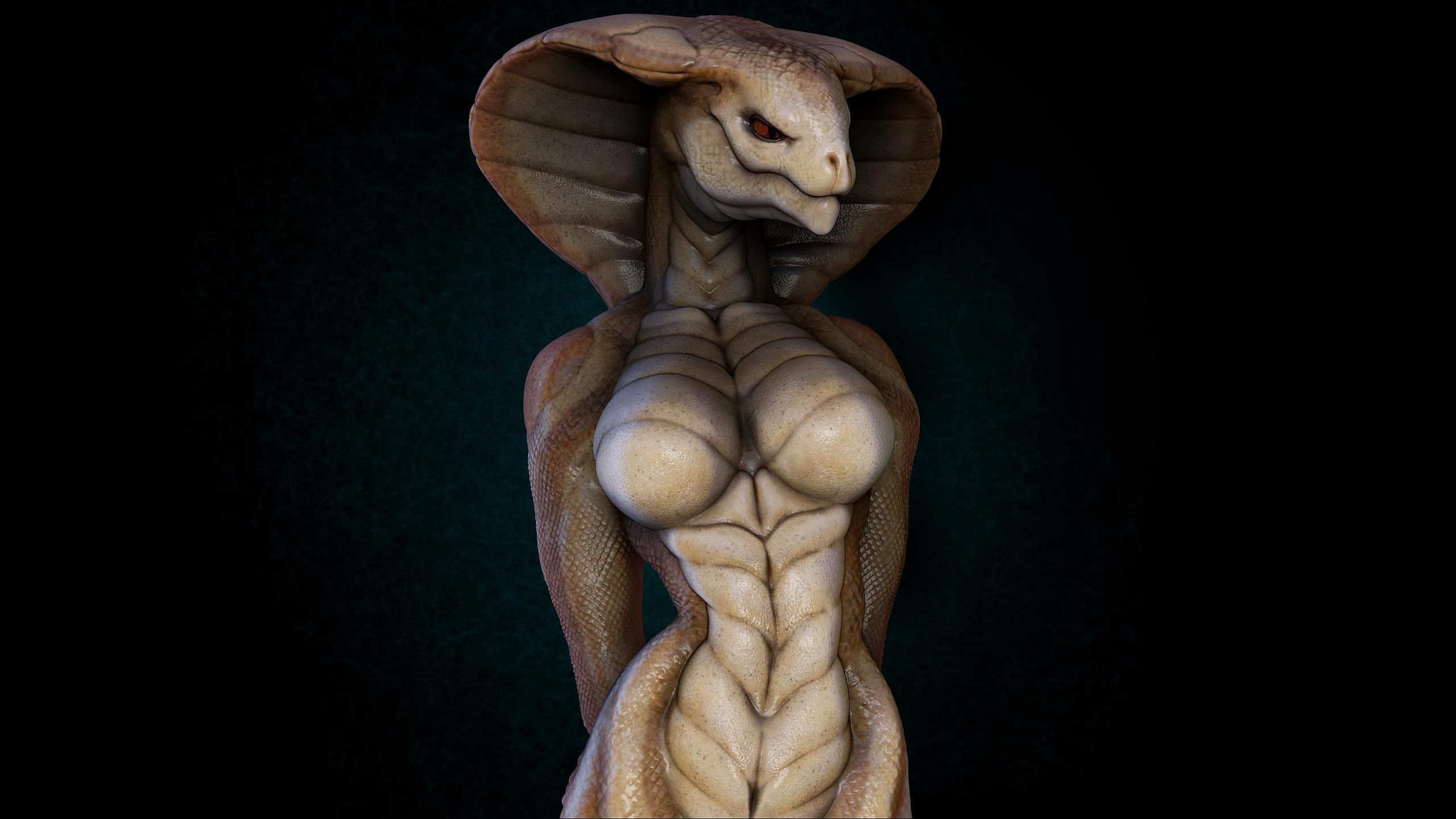 cobras-naked-women