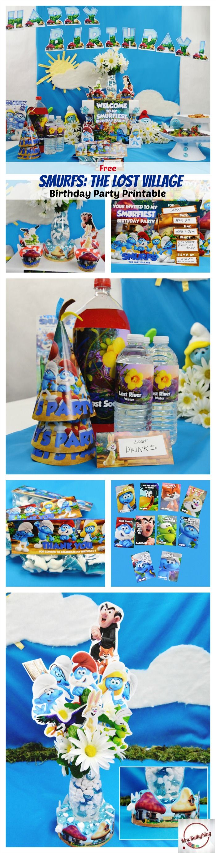 Free Smurfs The Lost Village Printable Party Decorations