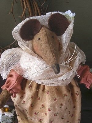 PDF Doll Pattern  Betsy the Country Mouse  by SnugglebugBlessings, $4.99