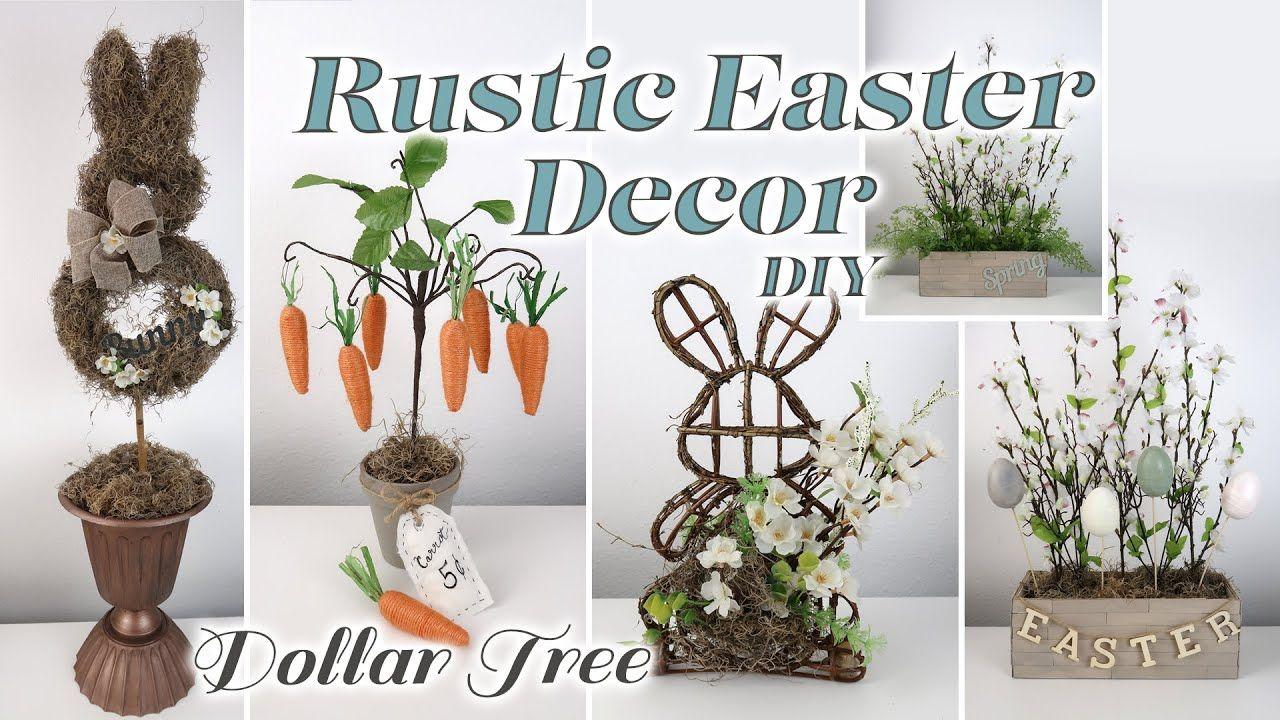 Dollar Tree DIY Rustic Easter Decor YouTube in 2020