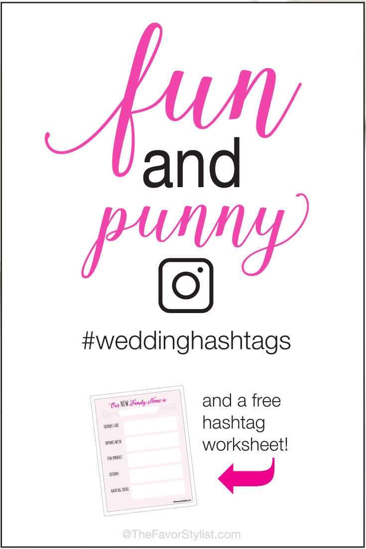 Funny Pun Wedding Hashtags | Miss to Mrs | Funny wedding hashtags