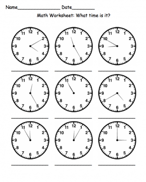 Free printable blank clock faces worksheets   Math thinks ...