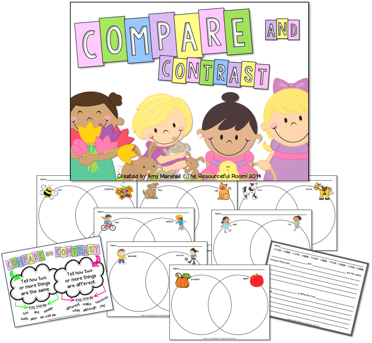 Compare And Contrast With Beginning Readers Freebie