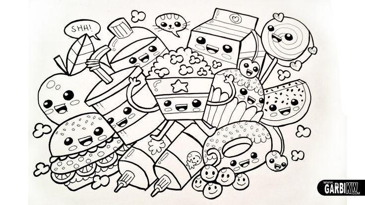 Pin By Renatu X On Doodles Food Coloring Pages Tumblr Coloring