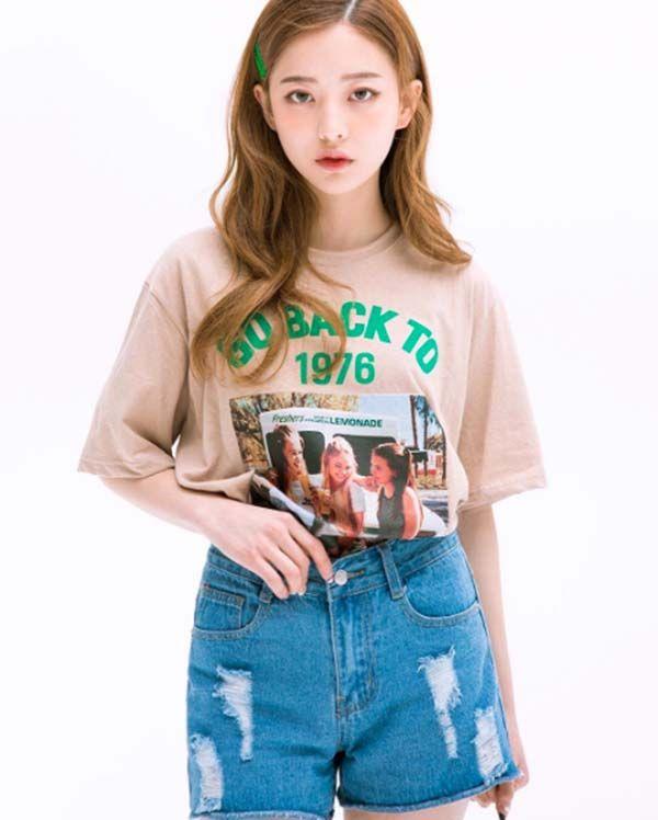 全球潮人都在穿的三款五分袖復古T,看韓妞示範率性甜美的春夏風格 - PopDaily 波波黛莉的異想世界