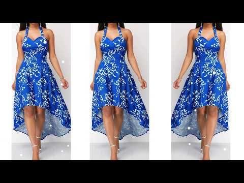 88439ecd93 Hermosos modelos vestidos para dama Moda 2019 Fashion 2019 - YouTube ...