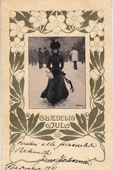 Paul Fischer Julekort 1901 Julekort