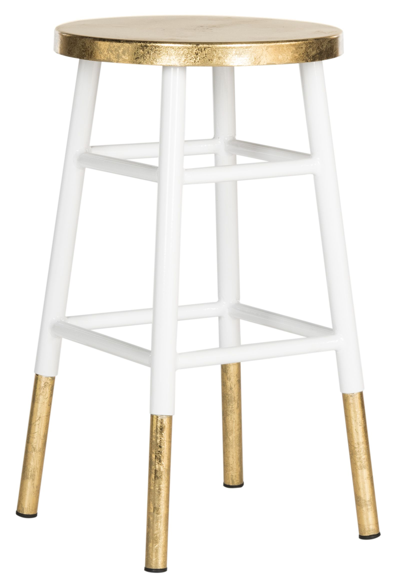 gold u0026 white counter stool perfect for any kitchen