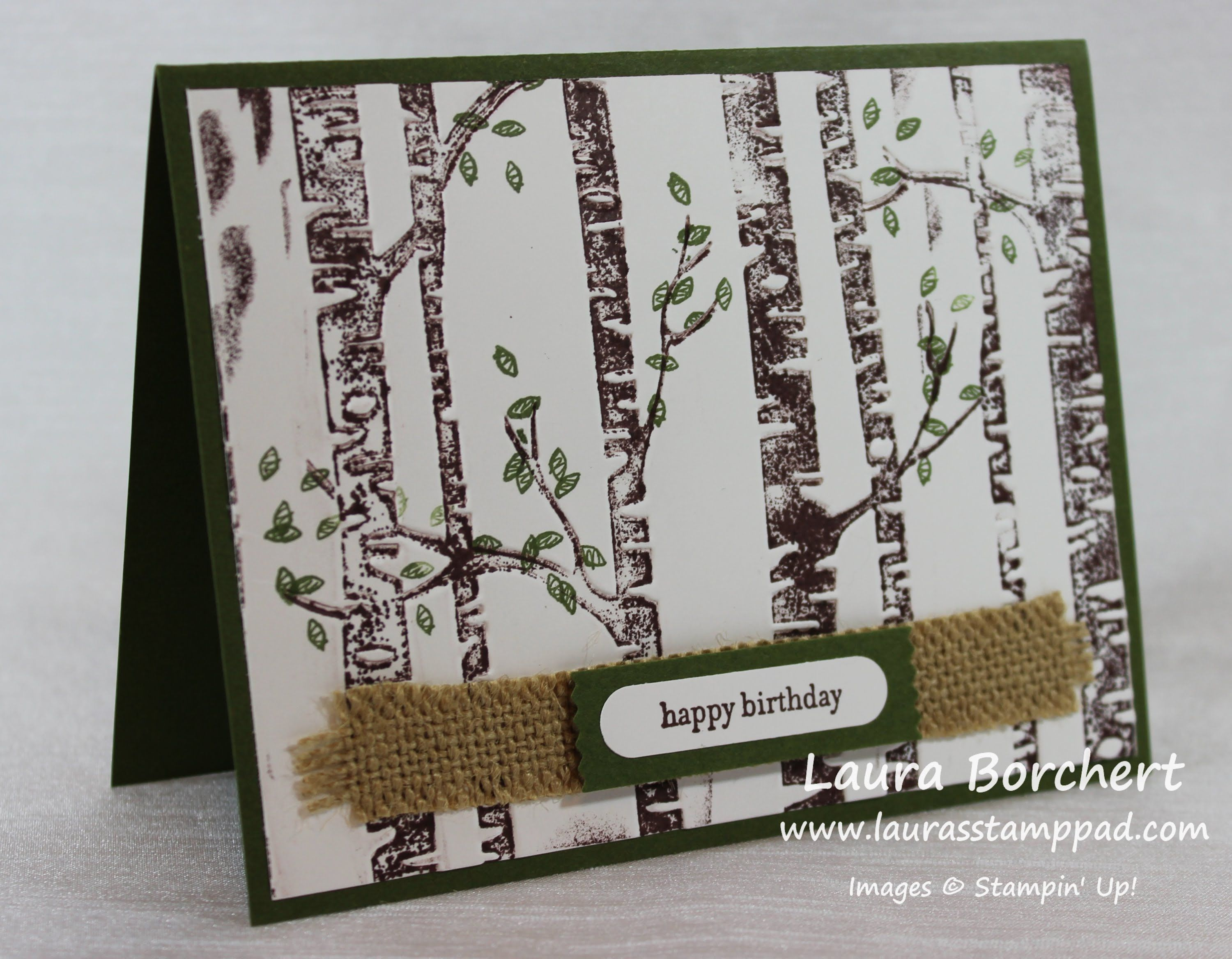 Add Color to Your Woodland Embossing Folder: Part 1 - Laura's Stamp Pad