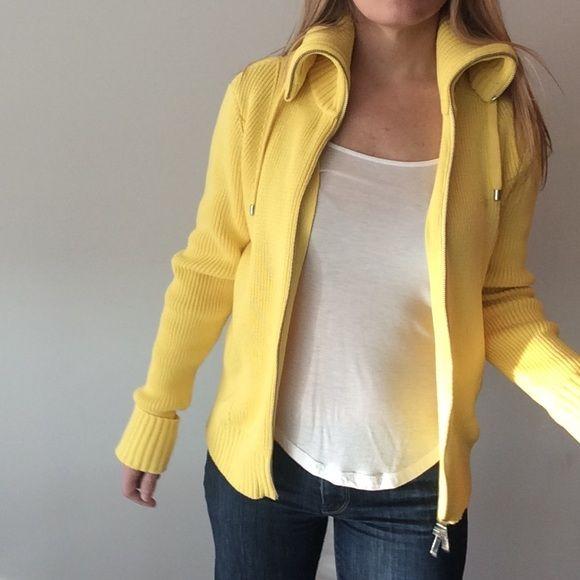 1 HOUR! LAUREN Ralph Lauren Yellow sweater jacket | Yellow sweater