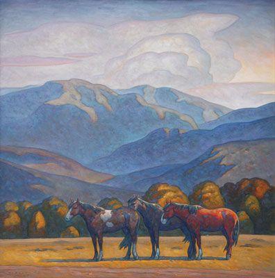Howard Post     Roadside     Oil on Canvas     42 x 42