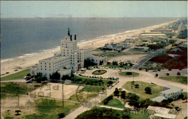Aerial View Ocean Forest Hotel Myrtle Beach South Carolina